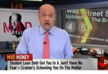 jim cramer about student loan debt