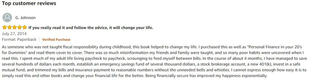 Book review of get a FinancialLife